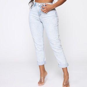 Fashion Nova High Waisted Mom Jeans